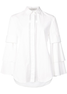 Carolina Herrera Bell sleeve shirt - White