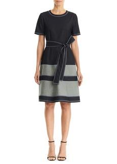 Carolina Herrera Belted A-Line Chambray Dress
