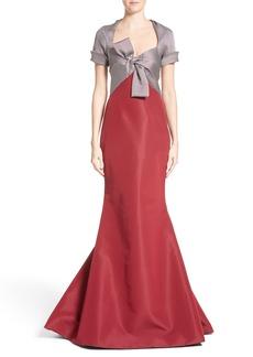 Carolina Herrera Bow Front Colorblock Gown