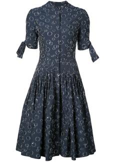 Carolina Herrera bubble fils coupe shirt dress - Blue