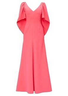 Carolina Herrera Cape-sleeve crepe palazzo maxi dress