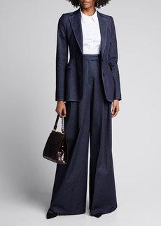 Carolina Herrera Chambray Blazer Jacket