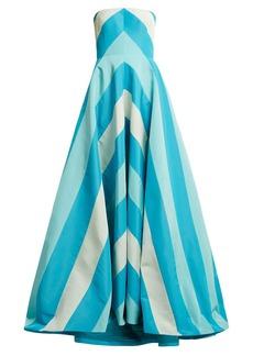 Carolina Herrera Chevron silk-faille gown