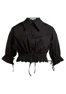 Carolina Herrera Cropped cotton-poplin shirt
