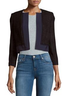 Carolina Herrera Cropped Open Front Silk Jacket