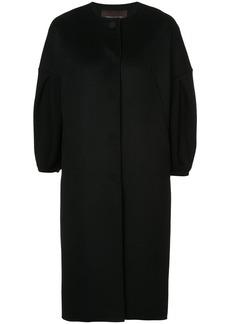 Carolina Herrera cropped sleeve cocoon coat - Black