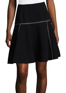 Dark Wool A-Line Skirt
