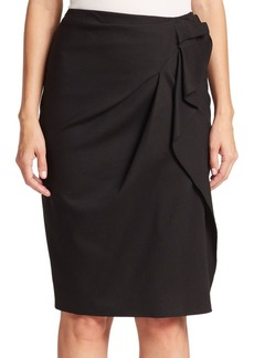 Day Collection Faux-Wrap Skirt