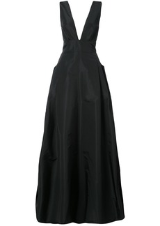 Carolina Herrera deep V-neck flared gown