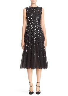 Carolina Herrera Dégradé Sequin Silk Midi Dress