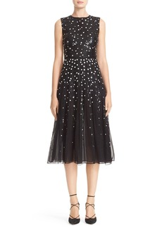 Carolina Herrera Dégradé Sequin Silk Midi Dress