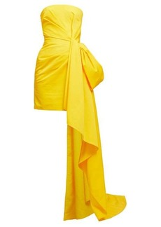 Carolina Herrera Draped gathered faille mini dress