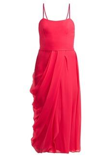 Carolina Herrera Draped silk-chiffon midi dress