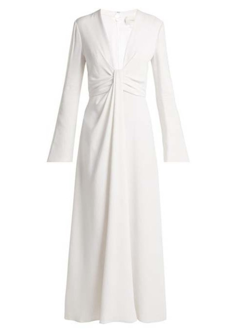Carolina Herrera Draped silk-georgette dress