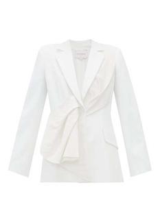 Carolina Herrera Draped silk-taffeta and twill jacket