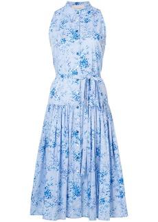Carolina Herrera drop waist floral dress - Blue