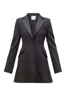 Carolina Herrera Satin and crepe tuxedo mini dress