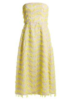 Carolina Herrera Embroidered semi-sheer organza dress