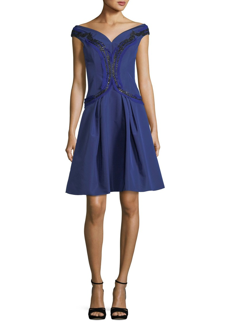 Carolina Herrera Carolina Herrera Embroidered Silk Faille Fit ...
