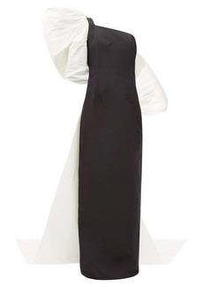 Carolina Herrera Exaggerated-bow silk-faille gown