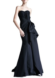 Carolina Herrera Faille Strapless Gown