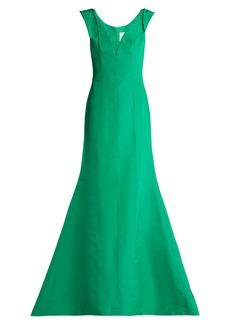 Carolina Herrera Fishtail silk-faille gown