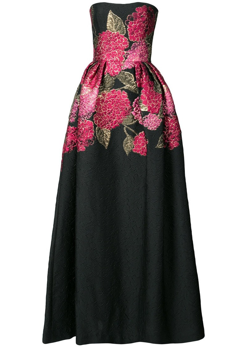 Carolina Herrera Carolina Herrera Floral Bouquet Ball Gown Black