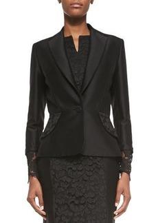 Carolina Herrera Floral-Lace Cuff Jacket