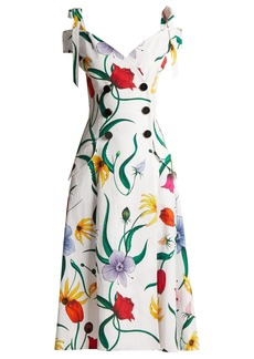 Carolina Herrera Floral-print cotton-blend faille dress