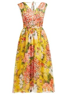 Carolina Herrera Floral-print silk-chiffon dress