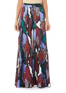 Carolina Herrera Floral-Print Textured Jersey Pants