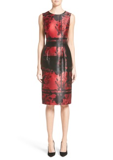 Carolina Herrera Floral Sheath Dress