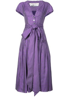 Carolina Herrera gingham check shirt dress - Pink & Purple