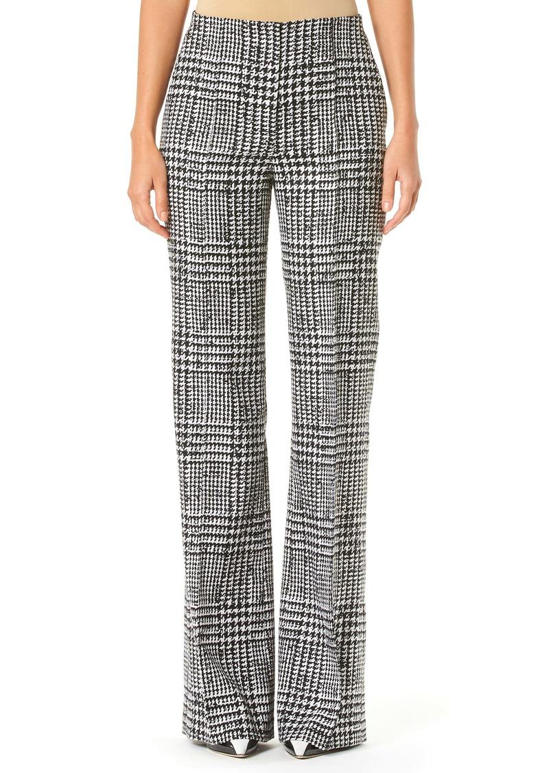 Carolina Herrera Glen Plaid Wide Leg Wool & Silk Pants