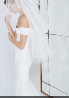 Carolina Herrera Gwen Tiered Fingertip Veil