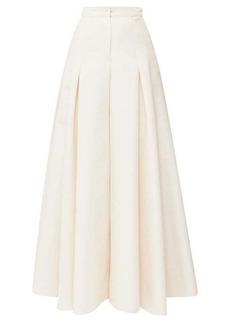 Carolina Herrera High-rise cotton-blend canvas palazzo trousers