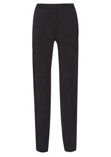 Carolina Herrera High-rise wool-blend slim-leg trousers