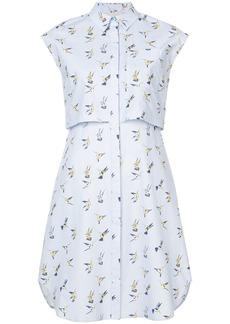 Carolina Herrera Hummingbird shirt dress - Blue