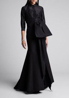 Carolina Herrera Icon 2.0 Knotted Trumpet Skirt