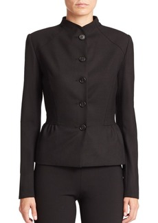 Carolina Herrera Icon Collection Molded-Neck Five-Button Jacket