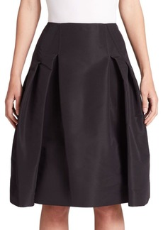Icon Collection Silk Faille Pleated Skirt