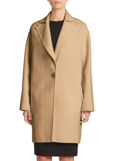 Carolina Herrera Icon Collection Single Button Dress Coat