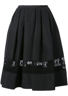 Carolina Herrera lace insert skirt - Black