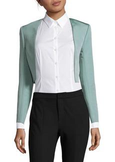 Carolina Herrera Long Sleeve Silk Bolero