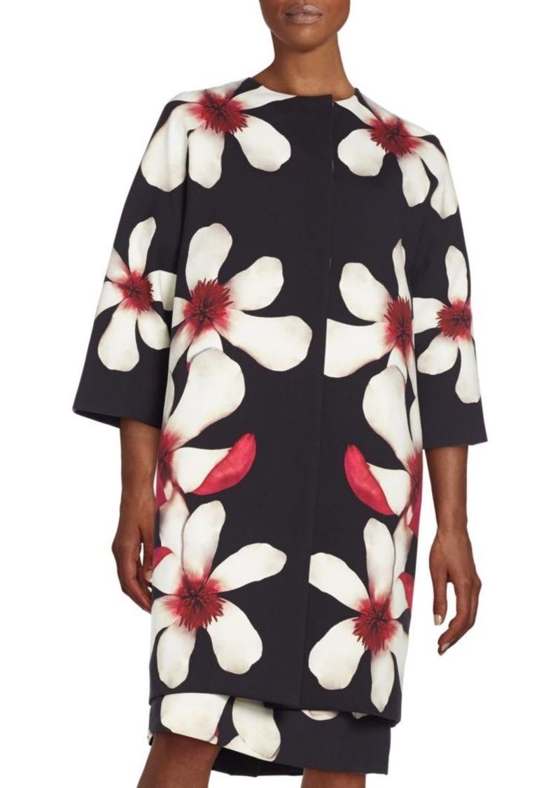 Carolina Herrera Magnolia-Print Coat