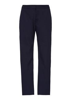 Carolina Herrera Mid-Rise Cotton Skinny Pants