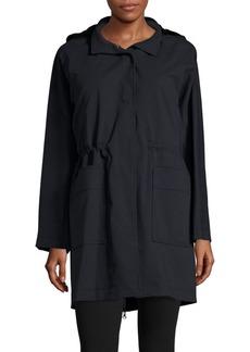 Carolina Herrera Mink Fur-Trim Coat