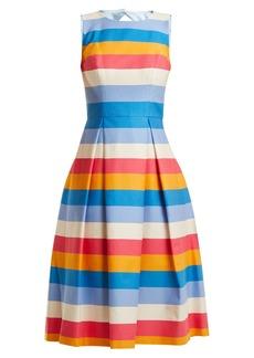 Carolina Herrera Multicoloured striped cotton-blend dress