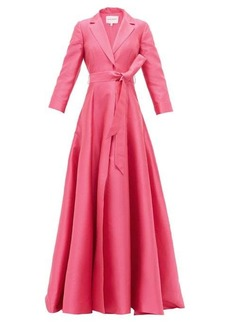 Carolina Herrera Notch-lapel belted gown