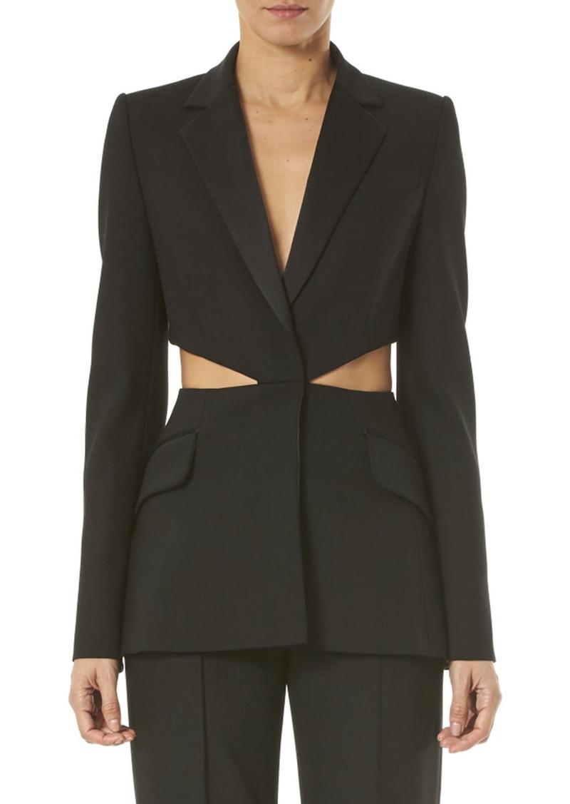 Carolina Herrera Notched-Lapel Cutout Jacket